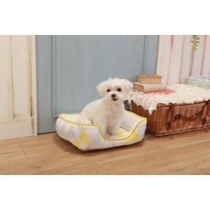 ペットべッド 北欧 夏用 犬ベッド 猫ベッド 犬用ベッド 猫用ベッド 全面接触冷感スクエアベッド 北欧調三角柄 S SB-80 処分販売|wannyan|02