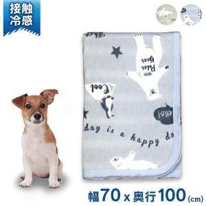 ペットべッド 夏用 犬ベッド 猫ベッド 犬用ベッド 猫用ベッド 接触冷感シロクマ柄 裏パイルブランケット IA-13 大阪杉本 (D)|wannyan