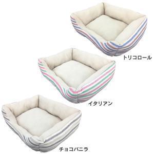 ペットべッド 夏用 犬ベッド 猫ベッド 犬用ベッド 猫用ベッド PPボーダーベッド パピー(D)|wannyan|02