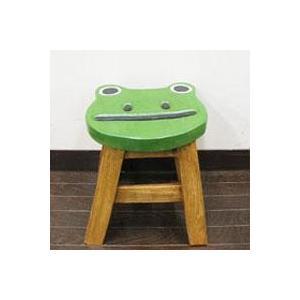 カエルフェイススツールアジアン家具 スツール 花台 腰掛になるアジアン 補助椅子/玄関 丸椅子(李朝家具 ベトナム家具 和風 家具 和 アジアン)|wanon333