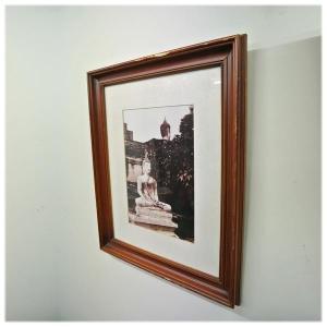 アユタヤ遺跡写真壁掛け風景写真 アンティーク レリーフ 壁掛け アート wanon333
