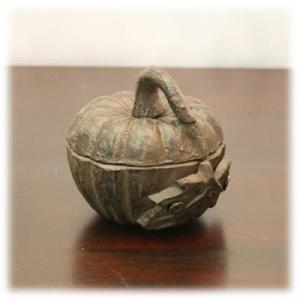 鉄カボチャの小物入れかぼちゃの入れ物 カボチャの置物 パンプキングッズ アジアン雑貨 ベトナム雑貨 小物入れ アクセサリー入れ アイアン 鉄の置物 wanon333