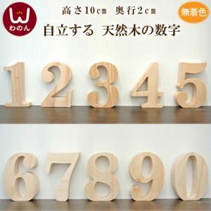 (オブジェ 数字(0-9))オブジェ 数字 木製(木)の大文字 ウェルカムサインやインテリア パーツ ブロックとして。 パイン材 天然木のナチュラ|wanon333