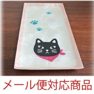 スカーフ猫柄カピストレイメール便発送できます癒しの猫グッズ グッズ ねこ ネコ 置物 猫 猫の置物 キャット カピス貝 お皿 トレイ ペントレイ(|wanon333