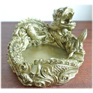 運気UP小物入れにもなる龍の灰皿龍 ドラゴン 龍の置物 龍の小物 ドラゴンの置物 干支 辰 置物 雑貨 インテリア アジア 中国 和 風水 十二支 シ wanon333