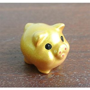 ミニミニ金豚の置物ぶた グッズ 豚 ブタ 置物 ぶた 雑貨 縁起物 幸運 金運 金豚 黄金の豚 ゴールド 風水雑貨 風水グッズ 風水(おしゃれ オ|wanon333