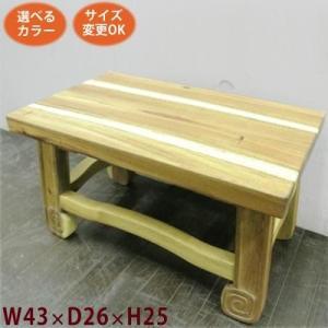 アジアン家具 ぐるぐる脚スツール25《W:43×D:26×H:25》アジアン家具 スツール 木製 四角 花台 腰掛になるアジアン/フラワースタンド|wanon333
