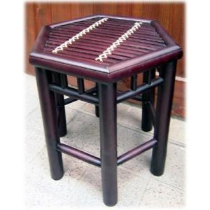 アジアン家具 スツール チェア バンブー家具 ベトナム アジアン 雑貨に合う花台 バリ バンブー 家具六角スツール( 腰掛け おしゃれ いす インテリ wanon333
