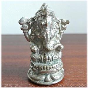 真鋳のミニガネーシャインドの神様 ガネーシャ 置物 夢をかなえるゾウ 象の神様 ゾウの神様 学問の神様 仏像 フィギュア 学問 商売繁盛(おしゃれ|wanon333