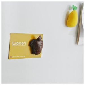 木彫りの海ガメマグネット(ハワイアン バリ 雑貨 キッチン マグネット クリップ 磁石 冷蔵庫 ホヌ(海亀) 亀 カメ かめ  かわいい 木製 イン|wanon333