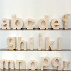 (アルファベット オブジェ 小文字(a〜r))アルファベット オブジェ 木製 文字 パーツ 小文字 結婚式のウェルカムボード サインや表札に。イン|wanon333