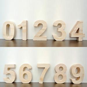 (オブジェ 数字(0-9))オブジェ 数字 木製(木)の小文字 ウェルカムサインやインテリア パーツ ブロックとして。 パイン材 天然木のナチュラ|wanon333