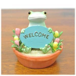 (ウエルカム カエル)カエル 置物 コポーやカエル グッズ 雑貨(バリ雑貨 アジアン雑貨)風水にもおすすめのカエルの置物(かえる 蛙 フロッグ)縁|wanon333