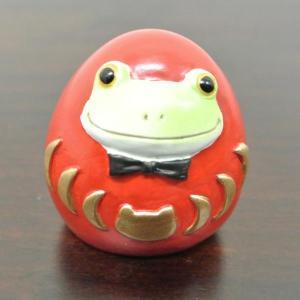 (カエル 赤 ダルマ)カエル 置物 コポーやカエル グッズ 雑貨(バリ雑貨 アジアン雑貨)風水にもおすすめのカエルの置物(かえる 蛙 フロッグ)縁|wanon333