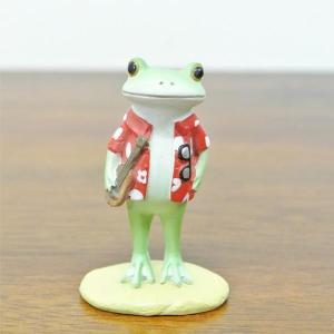(アロハシャツ カエル)カエル 置物 コポーやカエル グッズ 雑貨(バリ雑貨 アジアン雑貨)風水にもおすすめのカエルの置物(かえる 蛙 フロッグ)|wanon333