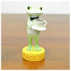 (GOOD JOB カエル)カエル 置物 コポーやカエル グッズ 雑貨(バリ雑貨 アジアン雑貨)風水にもおすすめのカエルの置物(かえる 蛙 フロッ wanon333
