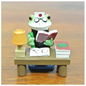 (がり勉 カエル)カエル 置物 コポーやカエル グッズ 雑貨(バリ雑貨 アジアン雑貨)風水にもおすすめのカエルの置物(かえる 蛙 フロッグ)縁起物|wanon333