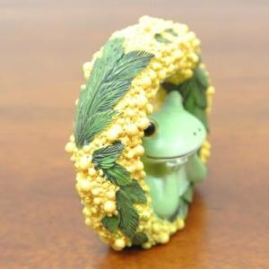 (ミモザ リース カエル)カエル 置物 コポーやカエル グッズ 雑貨(アジアン雑貨)風水にもおすすめのカエルの置物(かえる 蛙 フロッグ)縁起物|wanon333|04