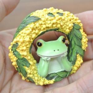 (ミモザ リース カエル)カエル 置物 コポーやカエル グッズ 雑貨(アジアン雑貨)風水にもおすすめのカエルの置物(かえる 蛙 フロッグ)縁起物|wanon333|05