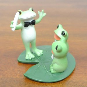 (カエルの合唱)コポーやカエル グッズ 雑貨(バリ雑貨 アジアン雑貨)風水にもおすすめのカエルの置物(かえる 蛙 フロッグ)縁起物 置物 カエルの|wanon333