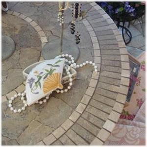 (陶器製 扇型 花柄 小物入れ)小物入れ 陶器製 ふた付き アクセサリー入れ アクセサリーボックス アジアン 中国 和風 雑貨(アジアン 雑貨 ア|wanon333|08