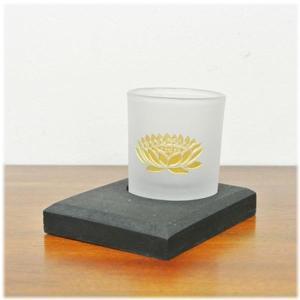 (ロータス ガラス キャンドルグラス[ゴールド])アジアン 雑貨 キャンドルホルダー ガラス ロータス 燭台 キャンドル スタンド キャンドルスタ|wanon333