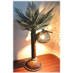 天然ココナッツの椰子の木ランプ(アジアン バリ 雑貨 アジアン タイ ココナッツ フロアスタンド スタンド照明 フロアライト ランプ 照明 照明ア wanon333