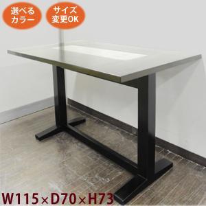 アジアン家具 テーブル ダイニングテーブル アジアン(2本脚 センター 格子 W115 D70 H73)ダイニング 無垢(天然木 アンティーク 完|wanon333