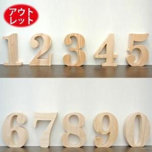 アウトレット価格木製 数字オブジェ(1〜0)高さ10cm パイン材の無塗装仕上げなのでお好みで簡単着色できますオブジェ エンブレムやプレート 表札|wanon333
