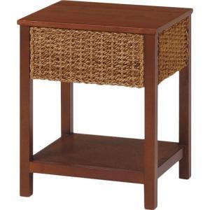 GLANZ アバカ素材引出し付きサイドテーブル[ナチュラル]《W:40×D:35×H:50》アジアン家具 アジアン リゾート テーブル サイドテー|wanon333