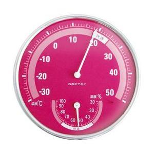 温湿度計 O-310 ピンク|wansaca