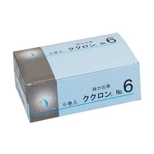 弾力包帯 ククロン No.6 6巻入 5.0cm×4.5m|wansaca