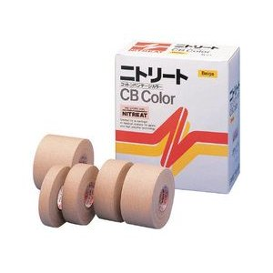 テーピングテープ ニトリート CBカラーテープ  CBC-13 24巻入 1.3cm×12m CBC-13 wansaca
