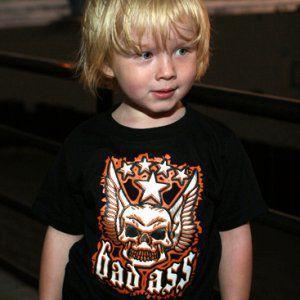 ロックな子供服のTシャツ【Bad Ass】別売おそろいの愛犬用タンクトップ有/キッズ服/K9DUDS/ギフト/プレゼント wanwan3dogs