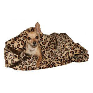犬のブランケット【Brown Cheetah】チーター柄/ペット用ブランケット/クッション/マット/ミンク/ベルベット|wanwan3dogs