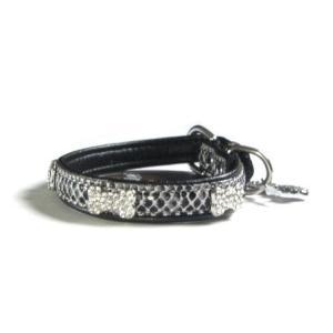 犬の首輪【クリスタルバイソン ブラック】|wanwan3dogs|02
