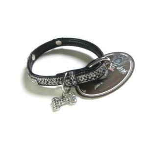 犬の首輪【クリスタルバイソン ブラック】|wanwan3dogs|04