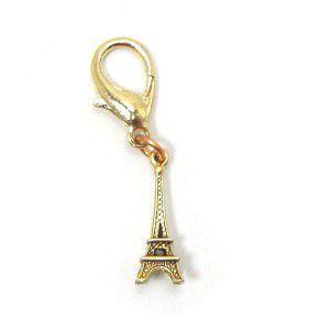 アクセサリー、首輪のドレスアップに可愛いチャーム【Gold Eiffel Tower】DIVA DOG|wanwan3dogs