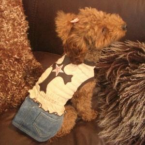 犬のデニムスカート【クロスデニム mini】犬服/犬の洋服/ペット服/ドッグウェア|wanwan3dogs