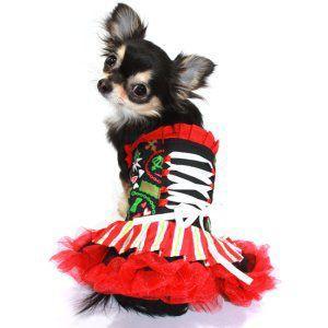 ロックな犬のチューブトップドレス【Bebe's bustier ドレス】ペットドレス/犬服/犬の洋服|wanwan3dogs