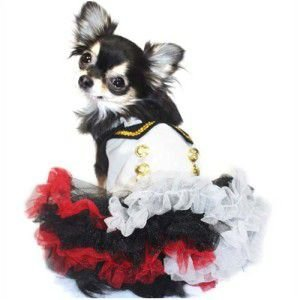 犬のドレス【Sailor Tutu】ワンピース/フリフリ/スカート/セーラー服/セーラー襟/チュチュ/犬服|wanwan3dogs