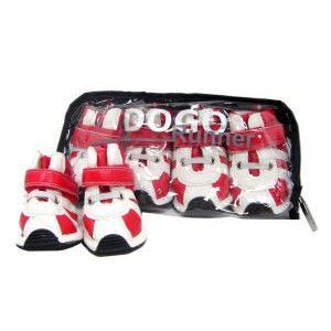 犬の靴【DOGO ランナー_レッド】犬用シューズ/ペット靴/ゴム底/犬グッズ/お散歩犬用品|wanwan3dogs