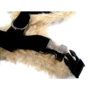 犬のハーネス【Black fur skull】保温性に優れたファー仕様のペット用ハーネス/スカルグッズ/ドクログッズ/お散歩犬用品|wanwan3dogs|03