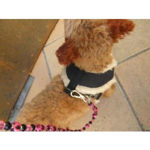 犬のハーネス【Black fur skull】保温性に優れたファー仕様のペット用ハーネス/スカルグッズ/ドクログッズ/お散歩犬用品|wanwan3dogs|05
