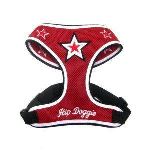 洗濯洗いもラクラクなメッシュタイプ♪犬のハーネス【Red mesh star】ペットのハーネス/胴輪/ヒップドギー/お散歩犬用品|wanwan3dogs