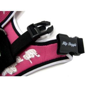 洗濯洗いもラクラクなメッシュタイプ♪犬のハーネス【Mesh skull pink 】ペットのハーネス/胴輪/ヒップドギー/お散歩犬用品|wanwan3dogs|03