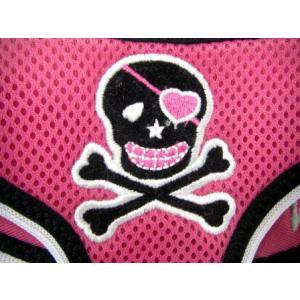 洗濯洗いもラクラクなメッシュタイプ♪犬のハーネス【Mesh skull pink 】ペットのハーネス/胴輪/ヒップドギー/お散歩犬用品|wanwan3dogs|04