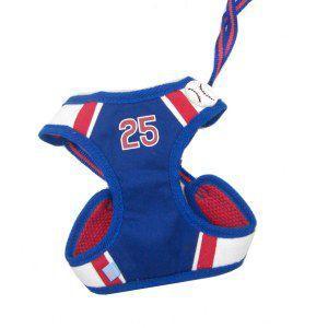 犬のハーネスとリードのセット【Easy Go Baseball】野球/ベースボール/スポーツ/ペット用ハーネス/胴輪/お散歩犬用品|wanwan3dogs