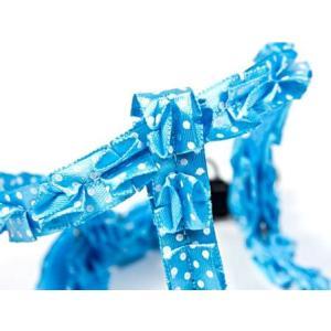 犬のハーネス&リードセット【The Lace Collection Blue】レース wanwan3dogs 02