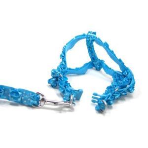 犬のハーネス&リードセット【The Lace Collection Blue】レース wanwan3dogs 03